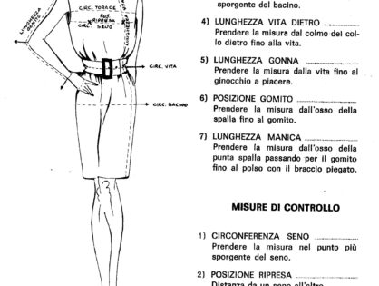 Tutorial per disegnare il cartamodello della gonna a mezza ruota/Tutorial for drawing the half-circle skirt pattern